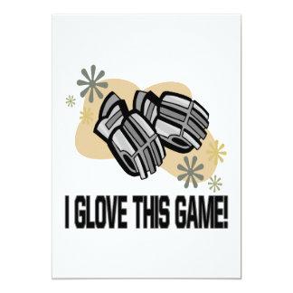 I Glove This Game 13 Cm X 18 Cm Invitation Card