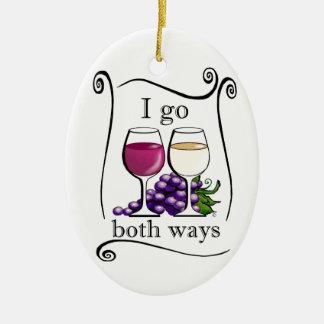 I Go Both Ways! Christmas Ornament