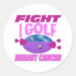 I Golf > Fight Breast Cancer Classic Round Sticker