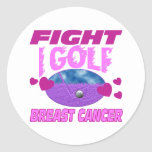 I Golf > Fight Breast Cancer Sticker