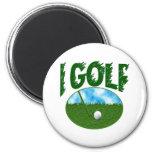 I Golf Fridge Magnet