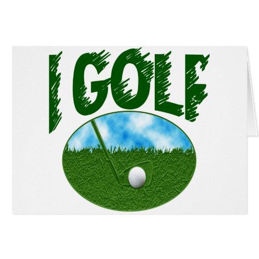I Golf Greeting Card