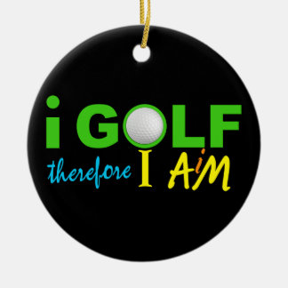 I GOLF ornament - double-sided