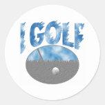 I Golf Round Stickers