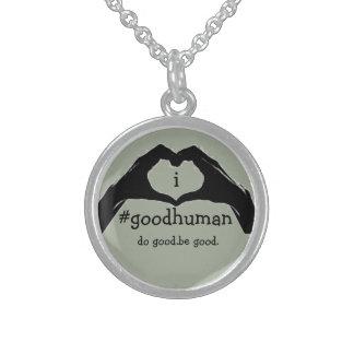 i #goodhuman pendant necklace