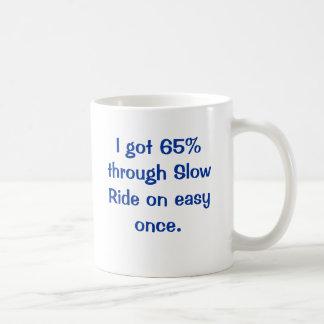 I got 65% through Slow Ride on easy once. Basic White Mug