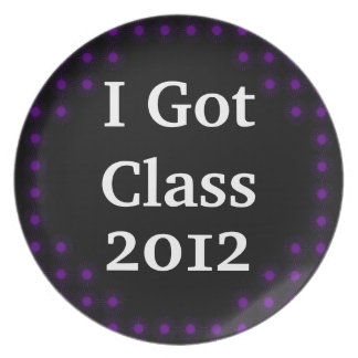 I Got Class Purple and Black Party Plates