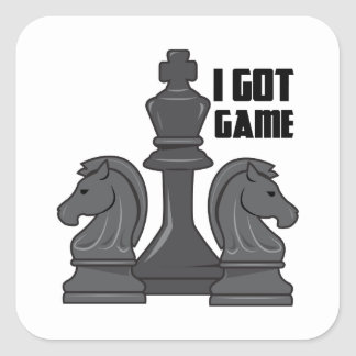 I Got Game Square Sticker