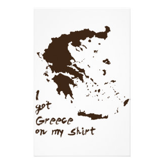 I got Greece Grease on my Shirt Stationery Paper