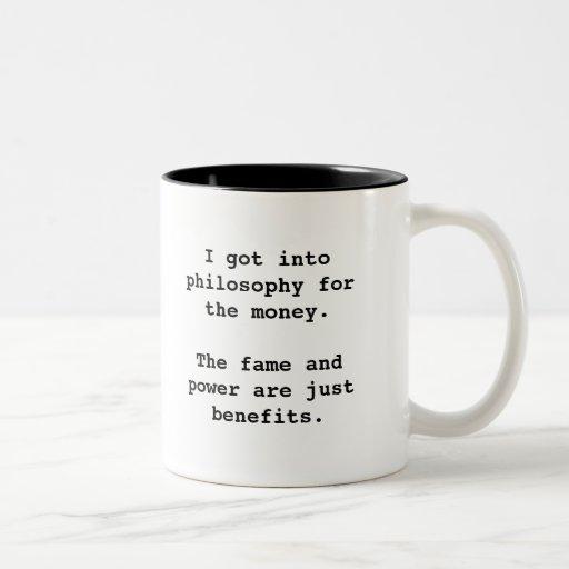 I Got Into Philosophy For...2-tone blk (left-hand) Mug