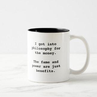 I Got Into Philosophy For...2-tone blk (left-hand) Two-Tone Mug