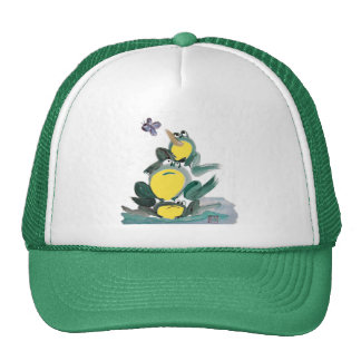 I Got it yells the Frog on Top - Sumi-e Hat