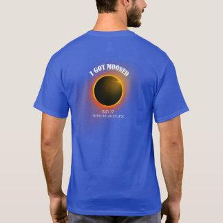 I Got Mooned T-Shirt Blue Total Solar Eclipse 2017
