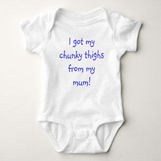 I got my chunky thighs from my mum! shirts