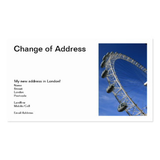90 change of address business cards and change of address With change of address business cards