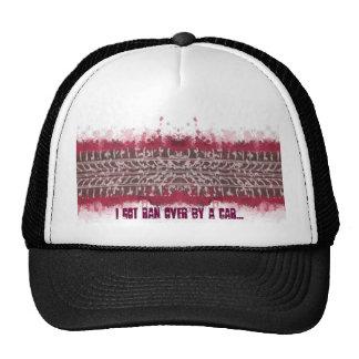 I got ran over by a car (hat) cap