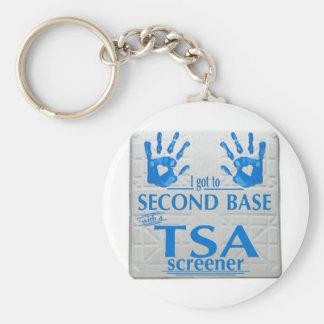 I got to second base with a TSA screener Key Chain