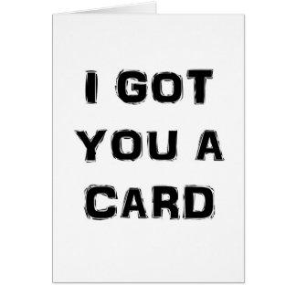 I Got You a Socially Awkward Greeting Card