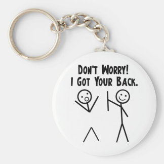 I Got Your Back! Basic Round Button Key Ring