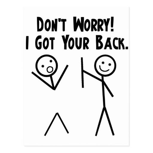 I Got Your Back! Post Cards