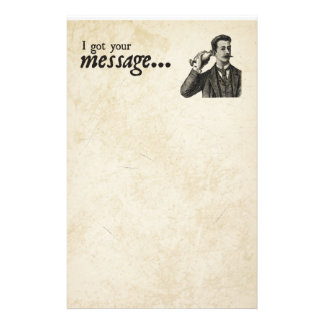 I Got Your Message Stationery