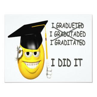 I Graduated 11 Cm X 14 Cm Invitation Card