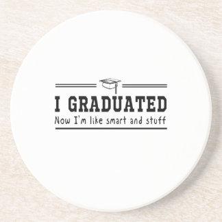 I Graduated Beverage Coasters