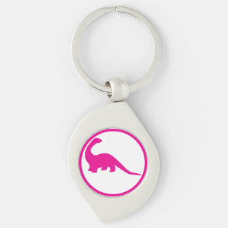 I grew up and became an paleontologist Silver-Colored swirl key ring