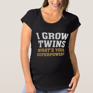 I Grow Twins Maternity T-Shirt