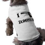 I Gun Zombies 2 Dog Tee Shirt