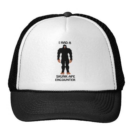 I HAD A SKUNK APE ENCOUNTER TRUCKER HAT