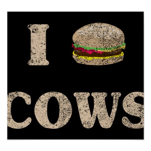 I Hamburger Cows Poster