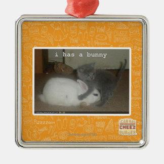 I has a bunny christmas ornament