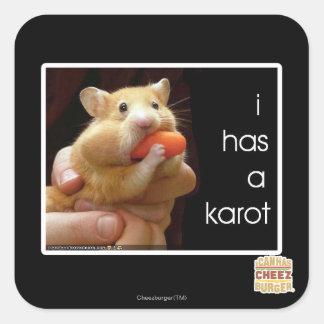 I has a karot square sticker