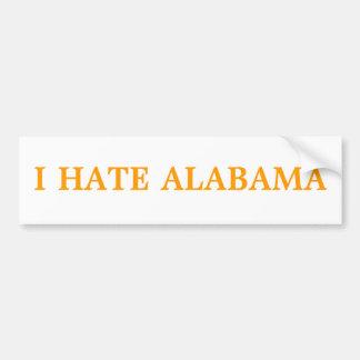 I HATE ALABAMA BUMPER STICKER