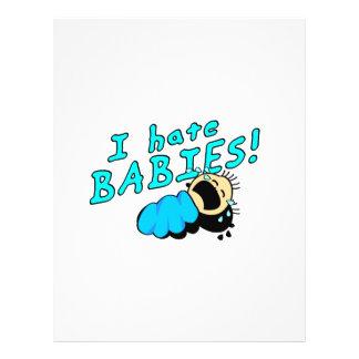 I hate babies! 21.5 cm x 28 cm flyer