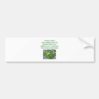 i hate broccoli bumper sticker