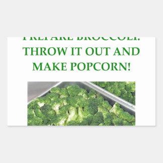 i hate broccoli rectangular sticker