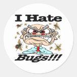 I Hate Bugs! Classic Round Sticker