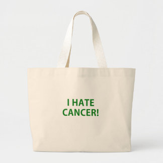 I Hate Cancer Canvas Bags