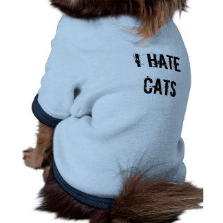 I hate cats pet T shirt