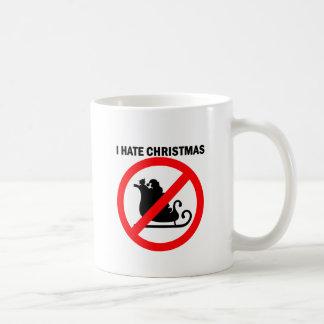 I hate Christmas Basic White Mug