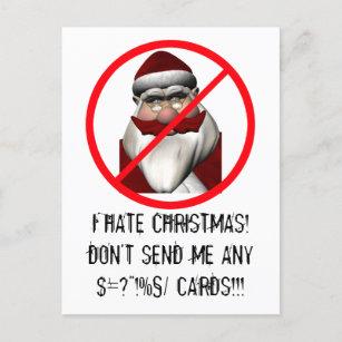 I Hate Christmas.I Hate Christmas Holiday Postcard