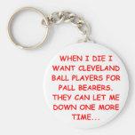i hate cleveland basic round button key ring