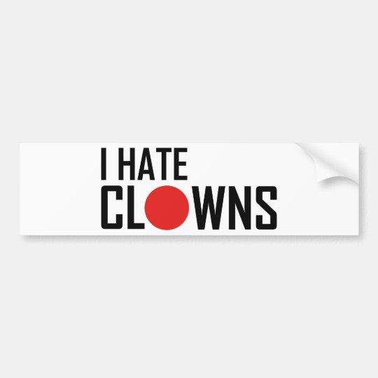 i hate clowns bumper sticker
