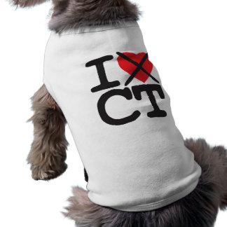 I Hate CT - Connecticut Sleeveless Dog Shirt