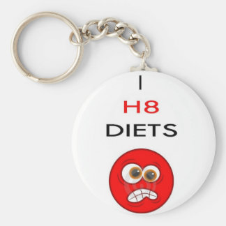 I hate diets key ring