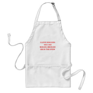 i hate dogs standard apron