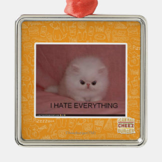 I hate everything christmas ornament