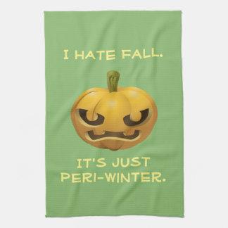 I Hate Fall--It's Just Peri-Winter Tea Towel